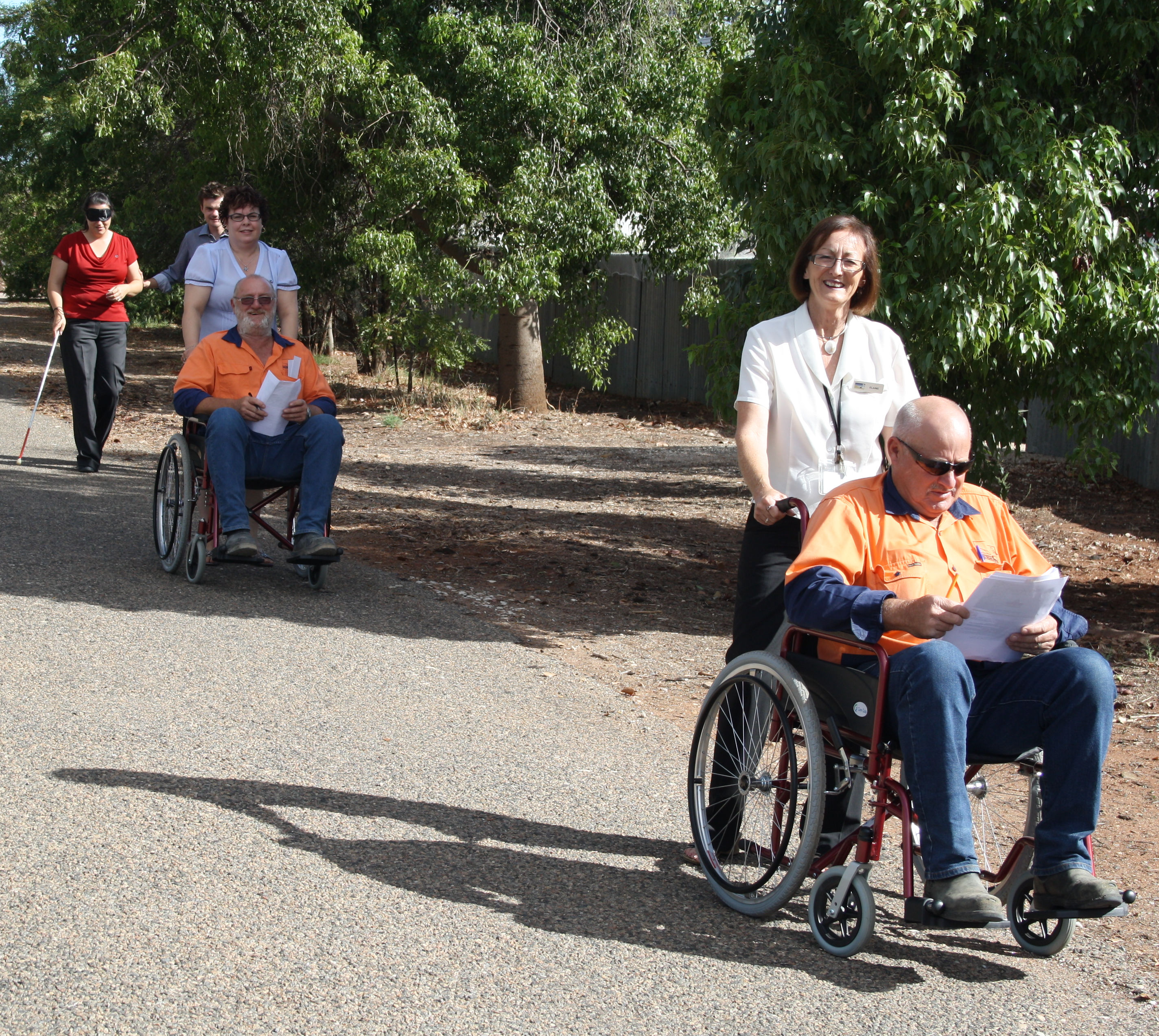 Disability walk with wheelchairs. Liveability SA.